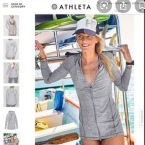Athleta Vitamin Sea Full Zip Hoodie Gray Medium